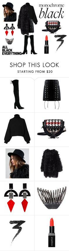 """all black"" by alisa-shchegolyaeva on Polyvore featuring мода, Stuart Weitzman, Diesel, Brixton, MACKINTOSH, Toolally, Plukka, Manic Panic NYC и Smashbox"