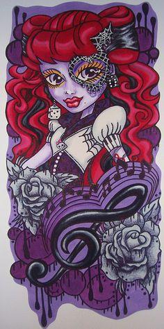 Monster High Doll Wallpaper Art Sricker Mural Handmade Room Wall Decor | Flickr - Photo Sharing!