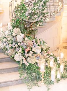 Elegant Wedding with Muted, Regal Décor at Oheka Castle in New York Wedding Stairs, Wedding Doors, Chateau Wedding Decor, Garden Wedding, Dream Wedding, Wedding Day, Queens Wedding, Malay Wedding, Spring Wedding