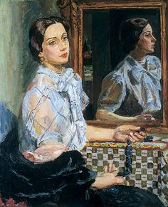 by Vanessa Bell  -  Dora Morris   c.1937  Oil on canvas, 76.2 x 63.5 cm  Collection: Leeds Museums and Galleries