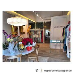 """Na inauguração do @espacomelcasagrande desejo muito sucesso a vocês! Mais um projeto """"feito com você"""" entregue! #handmade #decor #decoracao #pendente"""