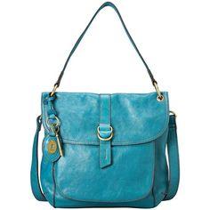 Fossil Handbag, Sasha Leather Flap Shoulder Bag found on Polyvore.  Love the color.