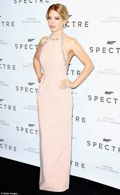 Belle of the ball: Lea Seydoux, 31, looked phenomenal as she attended the Spectre premiere in Le Grand Rex, Paris on Thursday