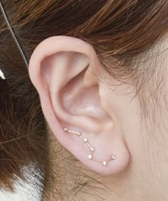 dipper constellation earring