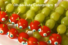 These cute caterpillars would suit a kids Garden or Bugs theme party. And they are super easy to make. Visit www.notanotherslipperydip.com