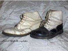 60-as évek gyerekcipője - fehér a lányoknak, fekete/fehér a fiúknak. Retro Kids, Lany, Combat Boots, Nostalgia, Antiques, Vintage, Shoes, Antiquities, Antique