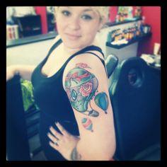Hot air ballon tattoo