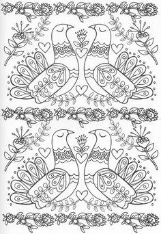 Scandinavian Embroidery Image Only. Pattern Coloring Pages, Cute Coloring Pages, Doodle Coloring, Animal Coloring Pages, Mandala Coloring, Adult Coloring Pages, Coloring Sheets, Coloring Books, Scandinavian Folk Art