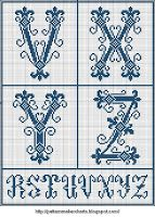 Free Easy Cross, Pattern Maker, PCStitch Charts + Free Historic Old Pattern Books: Sajou No 202 Cross Stitching, Cross Stitch Embroidery, Easy Cross, Cross Stitch Letters, New Pins, Pattern Books, Blackwork, Initials, Charts