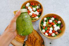 Caprese Salad + Pesto Dressing Recipe-8