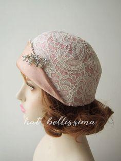 SALE 1920's brimless cloche hat Vintage Style hat by hatbellissima