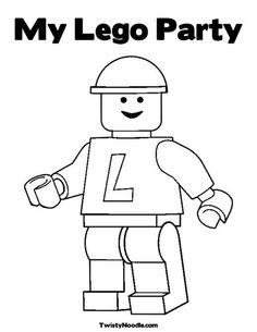 Lego Coloring Page #LegoDuploParty