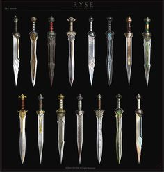 Anime Weapons, Sci Fi Weapons, Weapon Concept Art, Weapons Guns, Fantasy Sword, Fantasy Armor, Fantasy Weapons, Medieval Fantasy, Swords And Daggers