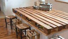 3 mesas de comedor hechas con palets, muy elegantes