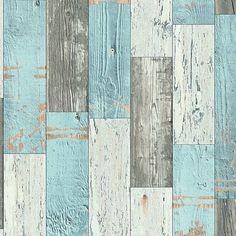 AS Creation behang Faro 4 962461 heeft een steigerhout motief in de kleur(en) beige, blauw en grijs. Het is gemaakt van papierbehang en een rolafmeting van 10m