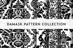 Seamless Damask Patterns by Vector illustrations on @creativemarket