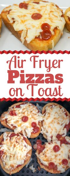 Air Fryer Garlic Toast Pizzas are a quick and easy weeknight meal that are sure to please the whole family. They are super easy to customize and great for kids. Toast Pizza, Air Fryer Recipes Pizza, Pizza Recipes, Grill Recipes, Bread Recipes, Tostadas, Easy Baked Ziti, Homemade Buffalo Sauce, Air Fryer Pork Chops