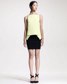 #Bergdorf Goodman         #Skirt                    #Alexander #Wang #Compact-Knit #Peplum #Pencil #Skirt                         Alexander Wang Compact-Knit Peplum Top & Pencil Skirt                                                   http://www.seapai.com/product.aspx?PID=328554