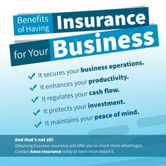 Benefits of Having Insurance for Your Business Insurance Benefits, Business Operations, Peace Of Mind, Investing, Mindfulness, How To Plan