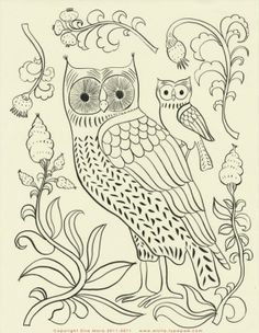 owl embroidery pattern, colour it, sew it, trace it, etc. FREE EMBROIDERY PATTERNS