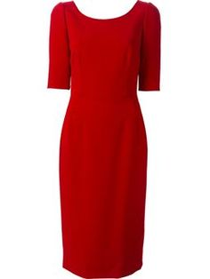 scoop neck fitted dress