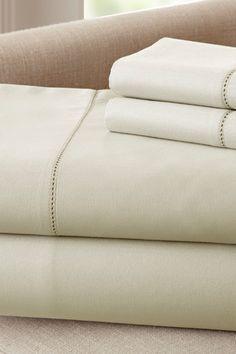 400 Thread Count Egyptian Cotton Single Hole Hem Sheet Set - Linen