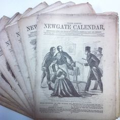 Detailing the lives and trials of notorious criminals, from the Newgate Calendar Victorian Crime And Punishment, Gallows, Penny Dreadful, Macabre, Trials, 19th Century, Literature, 18th, Calendar