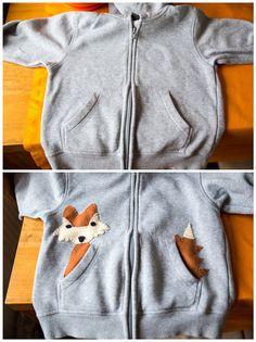 DIY : zrób codziennie coś fajnego: Bluza z liskiem