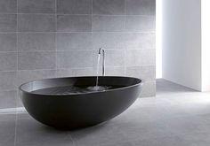 schwarze badewanne modern eiform mastella design