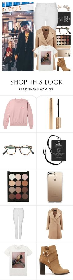 """""""With Lou Teasdale And Lux"""" by angelbrubisc ❤ liked on Polyvore featuring Oliver Peoples, Forever 21, Casetify, Topshop, Boohoo, Miss Selfridge and Hermès"""
