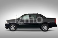 Side view of black 2007 Cadillac Escalade EXT SUT