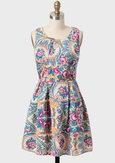 Scenic Route Paisley Dress | Modern Vintage Eclectic Prints
