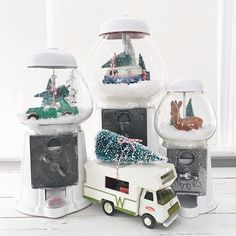 Last year our snow globe gumball machines sold out very quickly... so we are bringing several more with us to the #hobnobmarket ... here's a sneak peek! . . . #snowglobe #holiday #christmasspirit #christmasdecor #christmasgift #holiday2016 #holidaystyle #holidaytime #diy #handmadeisbest #makersgonnamake #makersmovement #modernmaker #handcrafted #handcraftedgoods #indianamaker #makerfaire #countrylivingfair #vintagestyle #vintageholiday #gumballmachine