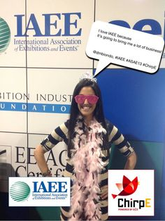 I love IAEE because it's going to bring me a lot of business! @dmbiondo, #IAEE_HQ #ASAE13 #ChirpE #IAEE_MYM