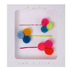 Meri Meri Pom Pom Hairslides. £6.50. Free UK P&P over £50.