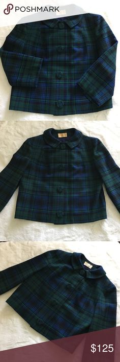 Pendleton Green and Navy Plaid Tartan Jacket Adorable Tartan Jacket perfect for Fall! Excellent preloved condition. {Just Dry Cleaned!} •100% Virgin Wool •Dry Clean Only Pendleton Jackets & Coats