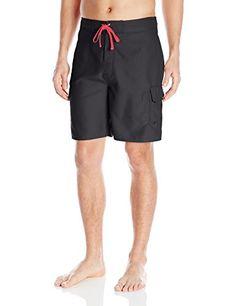 Balboa Mens Hybrid Fishing Swim Shorts BlackGrey Large <3 Click the swimwear to find out more