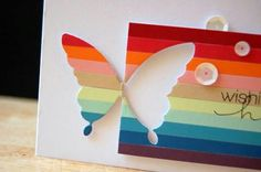 Tarjeta efecto mariposa.arcoiris