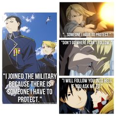 Riza Hawkeye and Roy Mustang Fullmetal Alchemist Brotherhood. Anime and Manga. Such a beautifully complicated relationship.