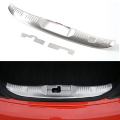BBQ@FUKA 3pcs Stainless Full set Rear Trunk Guard Cover Trim Fit For Ford Mustang 2015 2016 Car Accessory