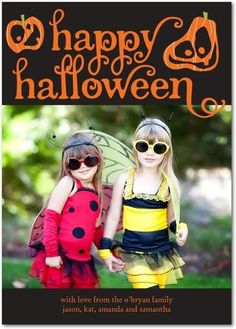They grow up so quickly! Capture your little pumpkins' adorable Halloween costumes with a unique photo card.