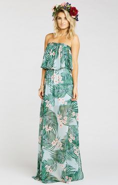 d038f686775 Hacienda Maxi Dress ~ Hanalei Dream. Tube GownTube DressMumu WeddingTropical  ...