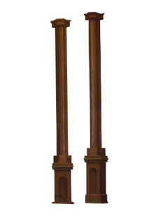 Gold & Brown Short Column Flat 12'x2'