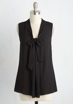 Miami Moments Sleeveless Top in Licorice, #ModCloth