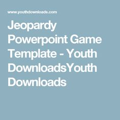 jeopardy powerpoint template with music | games | pinterest, Powerpoint templates