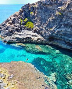 The island of Lampedusa, Italy