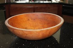 Thank you for viewing our store    We have for sale a Large Antique MUNISING Wooden Dough Bowl Solid Maple  Made by: Munising  Munising Bowls