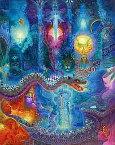 look at this up close! so much detail!!! - Anderson Debernardi, Magic Serpent, oil, 100 x 80 cm, 2011