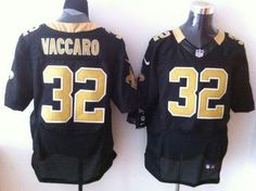 Nike Saints #32 Kenny Vaccaro Black Team Color Men's Embroidered NFL Elite Jersey