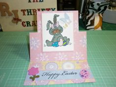 Easter Card using Sizzix Stand up card  Image by: Bugaboo stamps